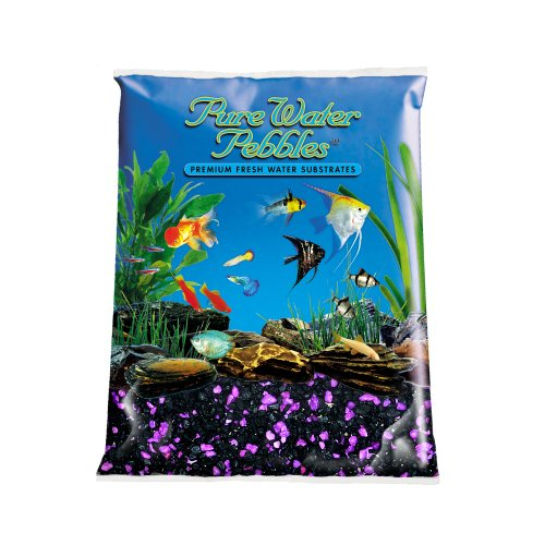 Purple Gravel - Pure Water Pebbles Nature's Ocean Aquarium Gravel BlackBerry Glo Gravel 5-lb