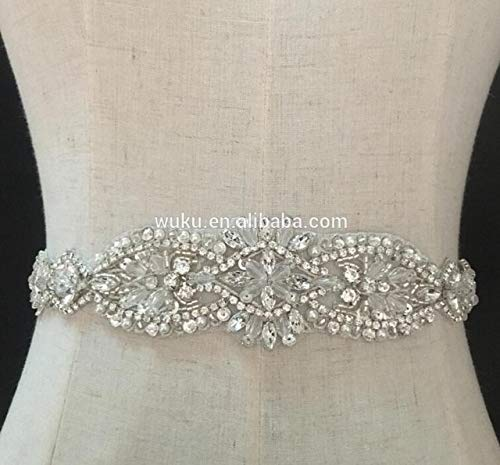 Dalab retails 3 Piece Packing Included Shipment Cost Classic Designs Fashion sash Belt Applique - (Color: Silver)