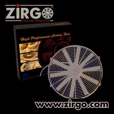 Zirgo 10210 16'' 2803 fCFM High Performance Blu Cooling Fan by Zirgo