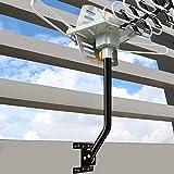 KingKKong Pole Mount Adjustable Attic Antenna Mount - Mounting Pole Universal Wall Mounts Brackets HDTV Antenna Mount for Outdoor TV Antenna J-Pole Mount 17inches