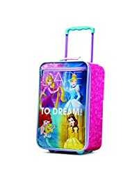 American Tourister Disney Girls Softside Upright 18-Inch, Princess, International Carry-On