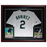 Hanley Ramirez Autographed Florida Marlins (Pinstripe #2) Deluxe Framed Jersey