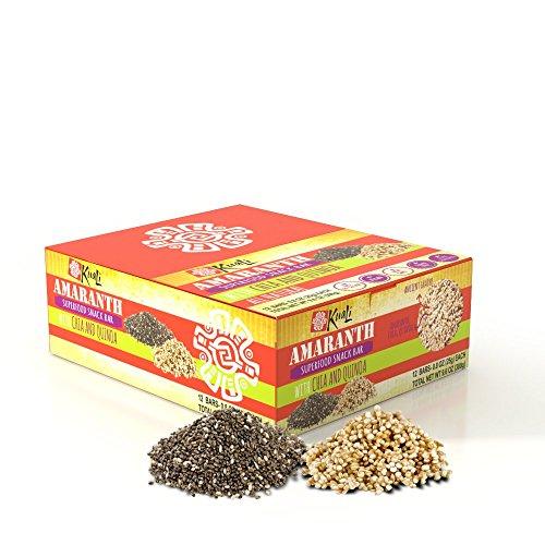 Amazon.com: Kuali Amaranth Bars with Chia and Quinoa (Pack of 6) Ancient Grain Bars - Amaranth Superfood Snack Bars- Barras de Amaranto - Alegrias - Vegan ...