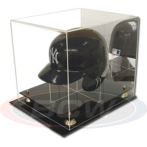 BCW 1-AD26 Acrylic Mini Baseball Helmet Display with Mirror -