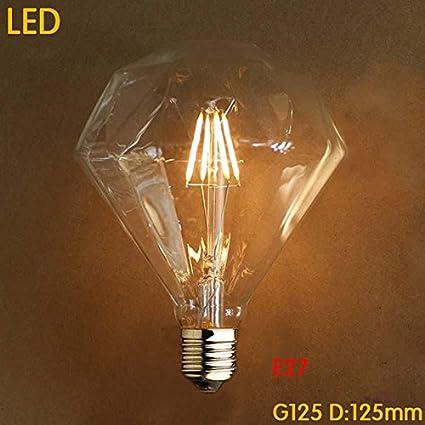 TY@ Luz Edison Vintage Bombillas LED E27 4W bombillas de diamantes para la nostalgia retro