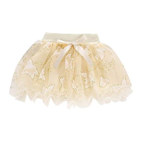 Nargar Falda tutú de Malla para niñas y bebés, Falda con Lazo ...