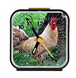 red rooster in the grassland Alarm Clock Home Kitchen Decorative 3.27Inch
