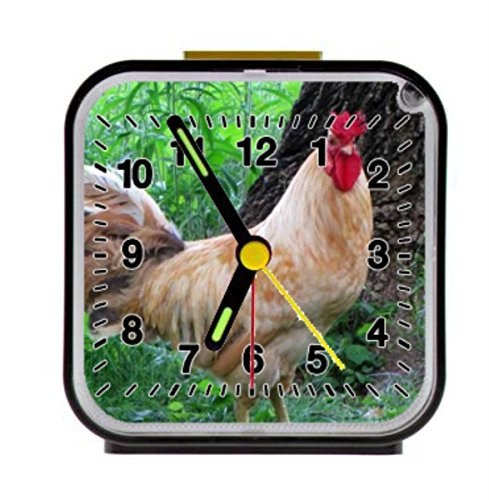 red rooster in the grassland Alarm Clock Home Kitchen Decorative 3.27Inch by LSS Trading
