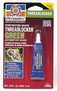 Permatex 29000 Penetrating Grade Threadlocker Green, 6 ml