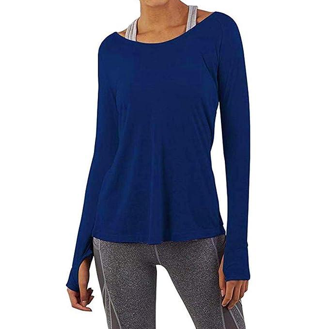 Camisas Mujer Casual, ZODOF Camiseta de Cuello Alto de Solapa Casual para Mujer Camisetas de Manga Larga de Blusa de Hebilla Camisas De Vestir: Amazon.es: ...