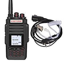 Zastone A19 Walkie Talkie 999 Memory Channels Two-Way Radio 10 Watts Dualband VHF/UHF FM Handheld Transceiver Including Acoustic Tube Earpiece with PTT