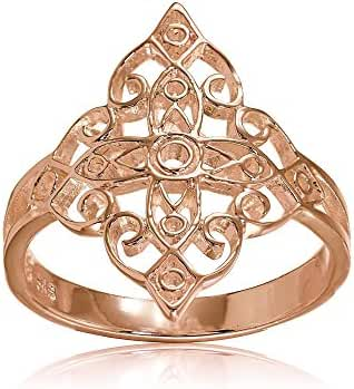 Sterling Silver Filigree Celtic Cross Ring