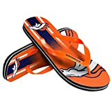 NFL Football Unisex Gradient Big Logo Beach Summer Flip Flop Sandals - Pick Team (Denver Broncos, X-Small)