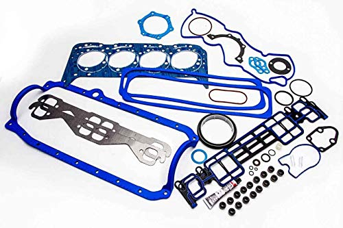 Fel Pro Full Gasket Set Head+Intake+Oil Pan+Exhaust compatible with 1996-02 Chevy GMC 350 5.7L Vortec (Vortec VIN
