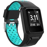 Correa de reloj de silicona de 9 colores a elegir y 24 mm de ancho, correa de repuesto para TomTom 2 3 Runner 2 3 Spark 3 GPS