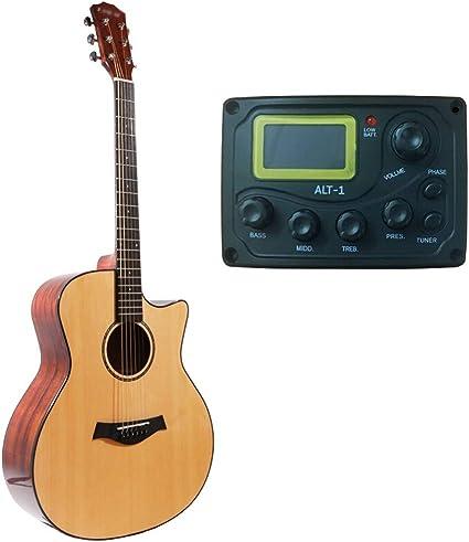 Miiliedy Chapa guitarra acústica Balada 41 pulgadas principiantes ...