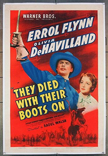 they-died-with-their-boots-on-1941-original-one-sheet-movie-poster-27x41-very-fine-condition-errol-f