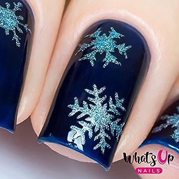 Amazon Com Whats Up Nails Gold Merry Snowflake Vinyl Stencils