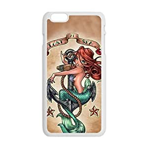 Little Mermaid Fashion Comstom Plastic For Case Iphone 6Plus 5.5inch Cover