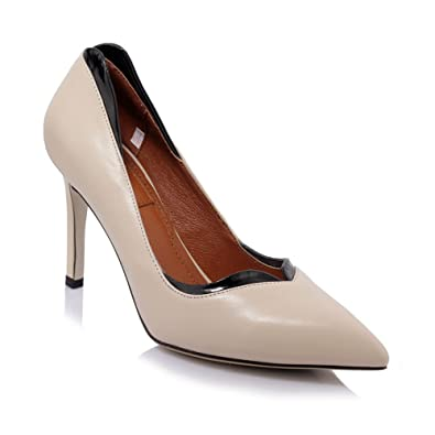 df702891325b DKFJKI Leder High Heels Damenmode Schuhe Flache Frau Damenschuhe ...