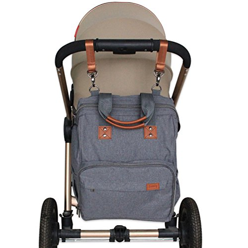 ... Bag with Stroller Straps, Changing Pad, Insulated Bottle Holder, Wide Open, Lightweight and High Capacity, Perfect for Shopping, Travel, Outings : Baby