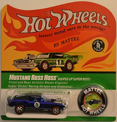 Hot Wheels Mustang Boss Hoss Blue Red Line Club (RLC) HW 2017 Series 1:64 Scale Collectible Die Cast Model Car. Only 8000 Made Worldwide!!!