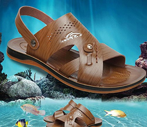 SU@DA 2016 nouveaux produits/hommes / ultra light / / summer beach chaussures/sandales/plate-forme/feuillet/peep-toe/ventilation/Loisirs , light brown , 38