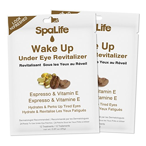 Patch Treatment (SpaLife Under Eye Patch - Korean Skin Care Eye Patches - 2 Pack of 12 Treatment Each (Espresso + Vitamin E))