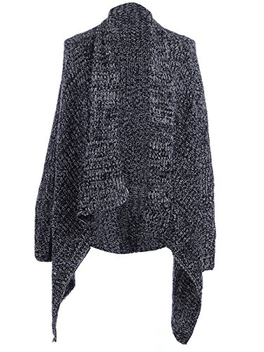 Anna-Kaci S/M Fit Cable Knit Pointed Hem Detail Dolman Sleeve Cardigan