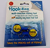 Hook-Eze Fishing Tool Blue - 1 Twin Pack - Hook Tieing & Safety Device + Line Cutter - Tie Swivels Cover 2 Poles Manufacturer Warranty - Arthritic Disability Saltwater Freshwater + Hook Remover