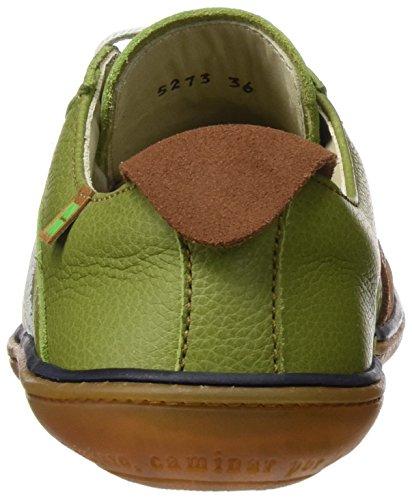 El Naturalista N5273 Soft Grain L.Suede El Viajero, Zapatos de Cordones Derby Unisex Adulto Verde (Green / Wood)