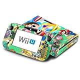 Super Smash Bros Mario Animal Crossing Zelda Kirby Decorative Decal Cover Skin for Nintendo Wii U Console and GamePad
