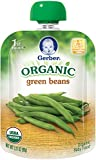 Gerber Organic 1st Foods Green Beans, 3.17 Ounce Pouch (Pack of 12)