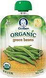 Gerber Organic 1st Foods Green Beans, 3.17 Ounce Pouch (Pack of 12)
