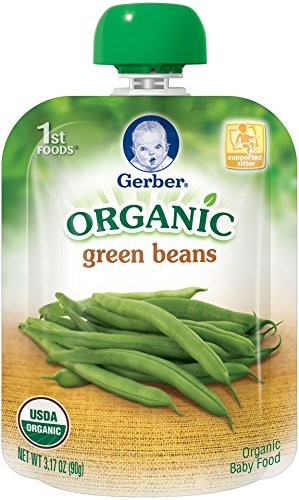 Gerber Organic 1st Foods Green Beans, 3.17 Ounce Pouch (Pack of 12) (Gerber Baby Food Green Beans compare prices)