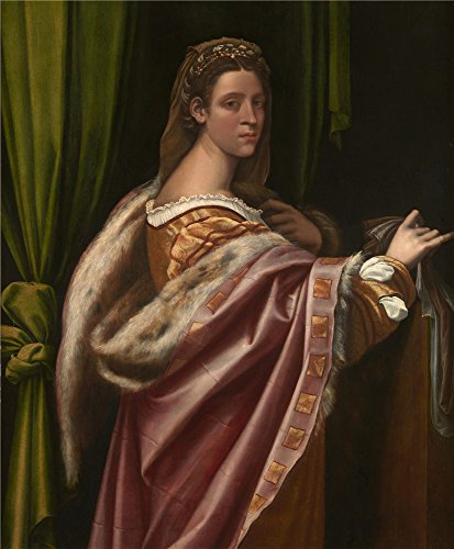Oil Painting 'Sebastiano Del Piombo Portrait Of A Lady ' Printing On Perfect Effect Canvas , 8 X 10 Inch / 20 X 25 Cm ,the Best Hallway Decor And Home Artwork And Gifts Is This High Definition Art Decorative Prints On Canvas