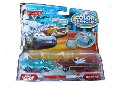 Disney Pixars Cars The Movie Color Change Car 2-Pack - Dinoco/McQueen: Amazon.es: Juguetes y juegos