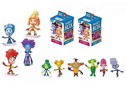 Amazon.com: Fixiki 2 psc Sweet Box 3d juguete Fixico Fix ...