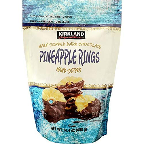 Kirkland Signature Expect More Half-Dipped Dark Chocolate Pineapple Rings, 14.4 oz by EVAXO (Image #2)