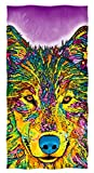 Dawhud Direct Cotton Beach Towel by Dean Russo (Wolf)