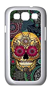 Samsung Galaxy S3 I9300 case, Artistic skeleton Case Cover for Samsung Galaxy S3 I9300,Custom Flowers and skull Cover Case for Samsung Galaxy S3 I9300 moye-237721 at monye.
