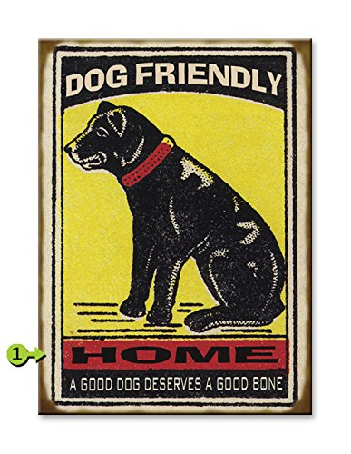 Dog Home Metal Sign - metal dog wall art
