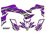 Senge Graphics All Years Kawasaki KFX 700, Shredder Purple Graphics Kit