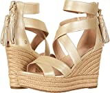 UGG Women's Raquel Metallic Sandal Soft Gold Size 7.5 B US