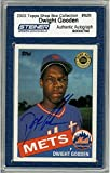 Dwight Gooden Signed 2003 Topps Card - Mets - Shoe Box Collection - Portrait (Slabbed by Steiner)