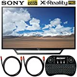 Sony KDL-32W600D 32-Inch Class HD TV with Built-in Wi-Fi Bundle with Deco Gear 2.4GHz Wireless Backlit Keyboard and 2X Deco Gear 4K Copper 6 FT HDMI Cable