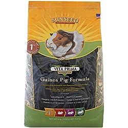 Sunseed Vita Prima Sunscription Guinea Pig Food, High Fiber Timothy Formula - 8 Lbs Size