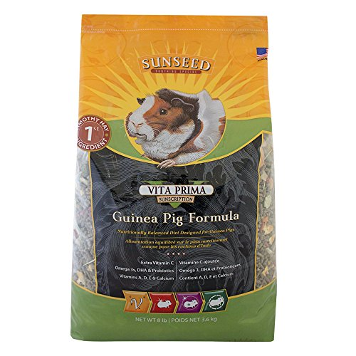 Sunseed Vita Prima Sunscription Guinea Pig Food, High Fiber Timothy Formula - 8 Lbs Size