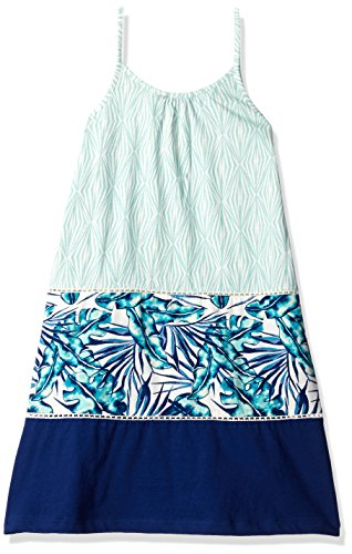 Roxy Big Girls' Dolores Park Dress, Marshmallow Tropical Days Geo, 8 Roxy Apparel