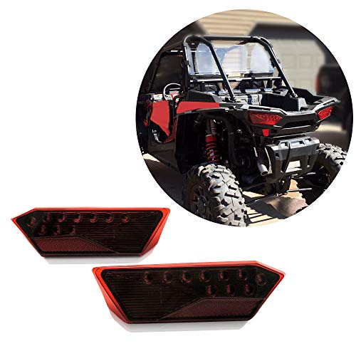 Set of 2 LED Tail Light Rear Lamp Replacement for POLARIS 2014-2019 RZR 1000 900 XP 4 ()